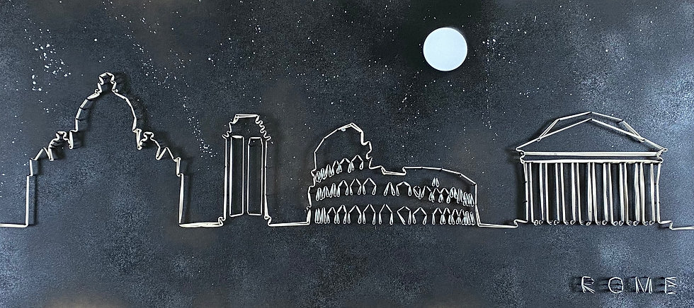 Skyline (senza cielo) Roma, Italia 🇮🇹