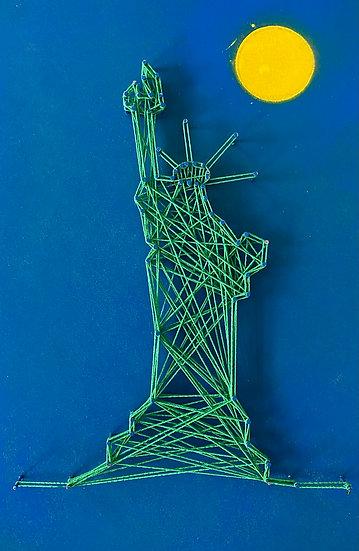 Statua della Libertà (senza cielo), New York, USA 🇺🇸