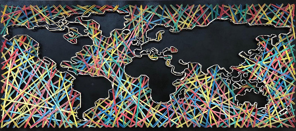 Mappa del Mondo (oceani) 🌎