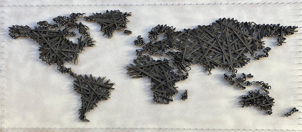 Mappa del Mondo (continenti) 🌎