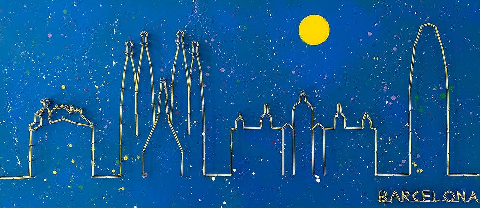 Skyline (senza cielo) Barcellona, Spagna 🇪🇸