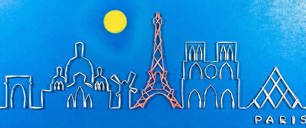Skyline (senza cielo) Parigi, Francia 🇫🇷