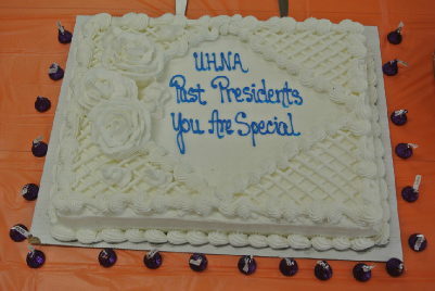 """""""You Are Special"""" was the message on the cake presented to the former presidents."""