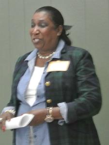 Former president Phyllis Waelder tells of her accomplishments as UHNA president.