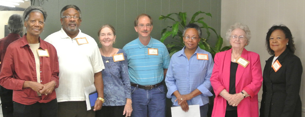 The former UHNA presidents in attendance were (left to right):  BJ Taylor, Edgar Whitfield, Mary Alice Brown, Al Weber, Bobbie Fowler who stood in for her husband Seth who was unable to attend, Joan Bartz and active president Vera Givens.