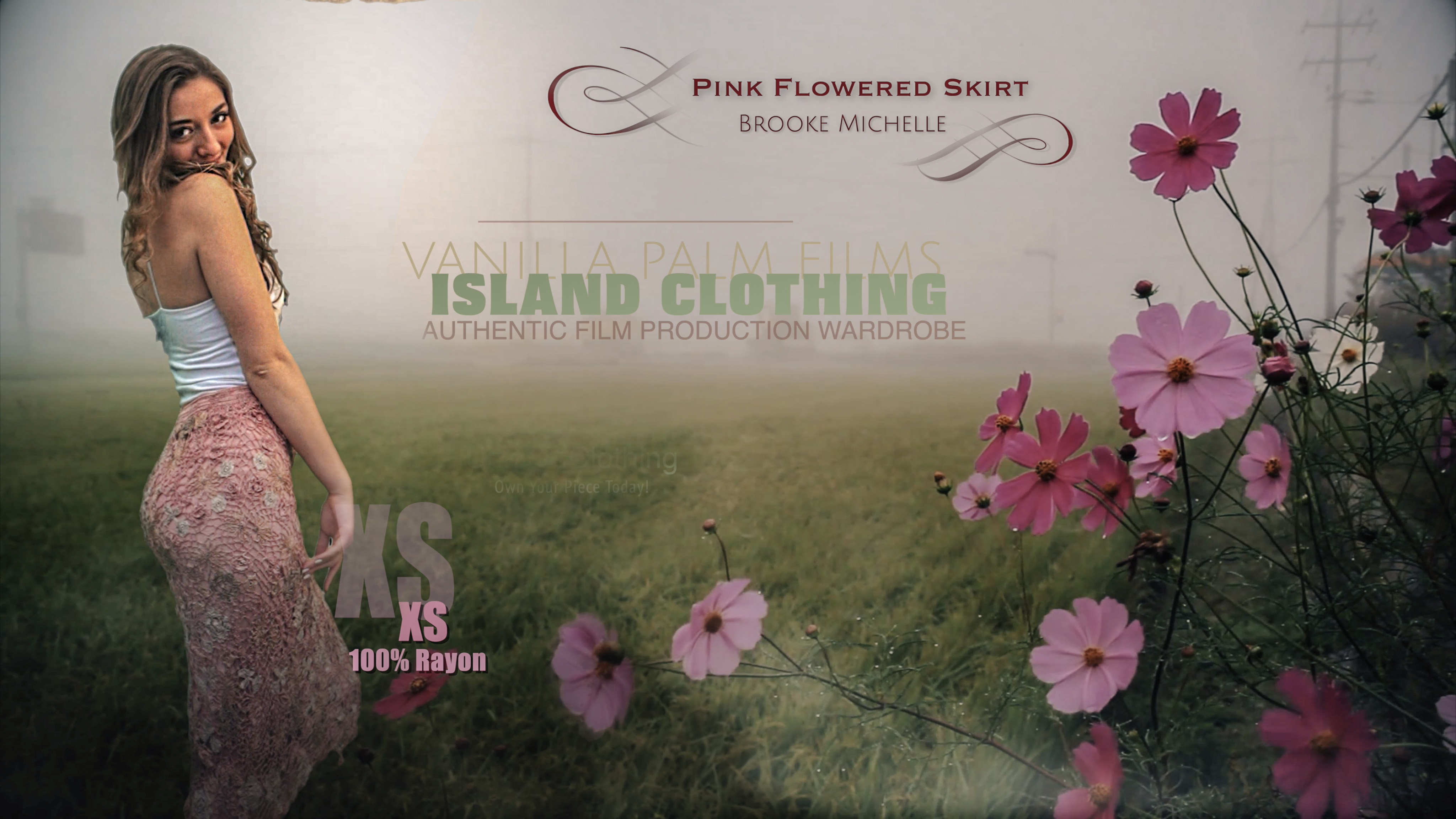 102-Pink Flowered Skirt Billboard