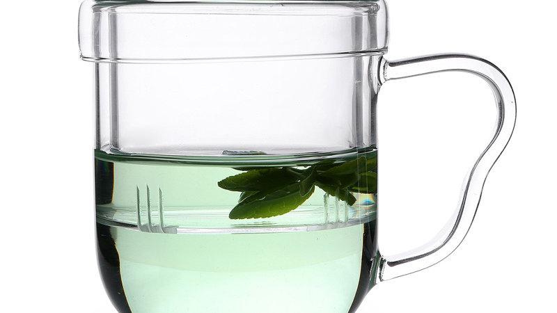 thee glas met glazen filter