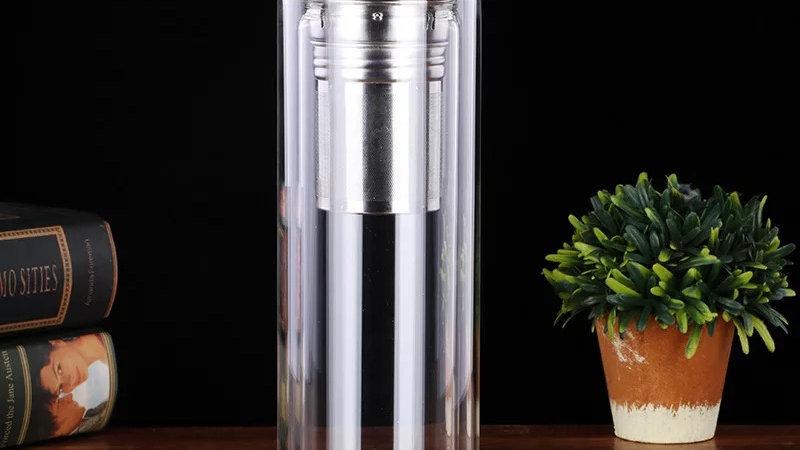 glazen thermos fles 450ML