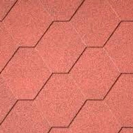 Red Felt Shingles (pack of 22)