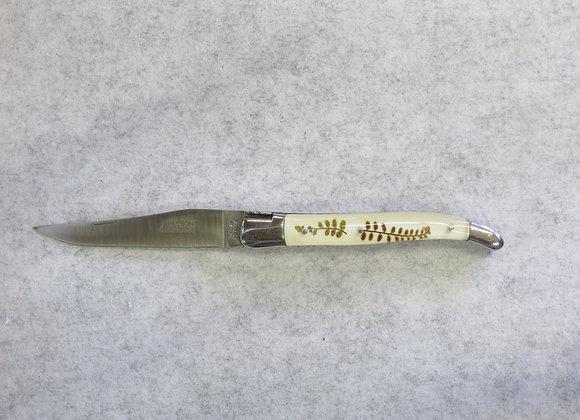 12 cm - 1 pièce - 2 mitres - Résine fougère