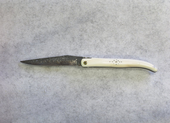 12 cm - Plein manche - Lame brute de forge - Ivoire de phacochère
