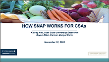 How SNAP Works for CSAs