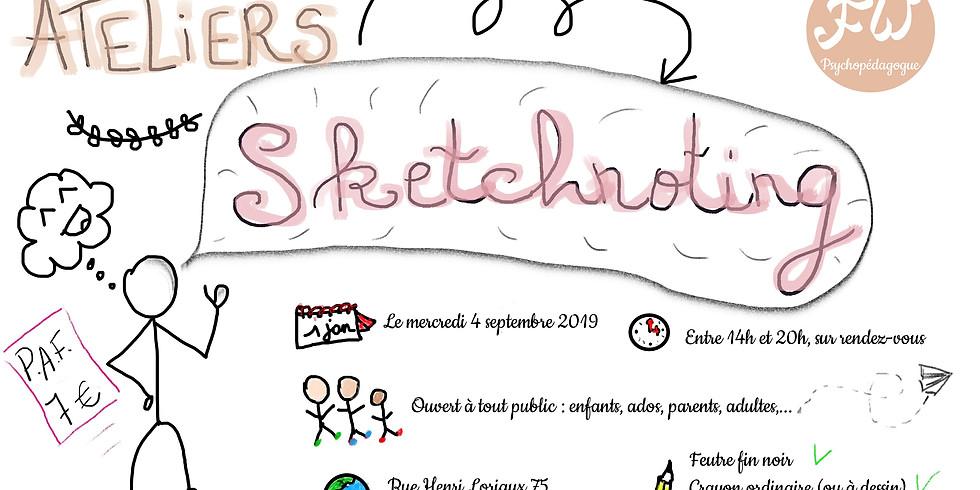 Atelier de Sketchnoting : rentrée des classes
