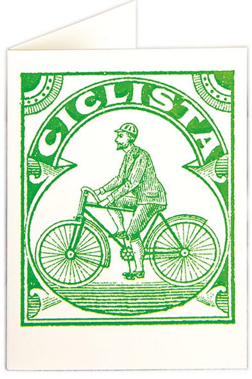 Cyclist Greetings Card