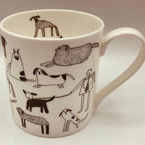 Arthouse Dog/Cat China Mugs
