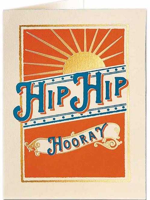 Hip Hip Hooray Greetings Card