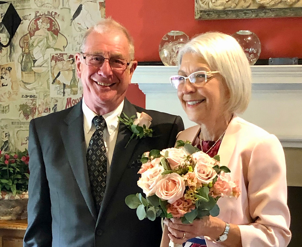 Mum and Dennis as the new Mr and Mrs Lee