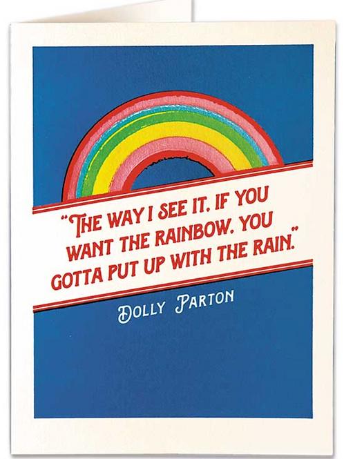 Rainbow and Rain Greetings Card
