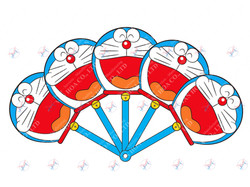 Quạt xoè Doraemon