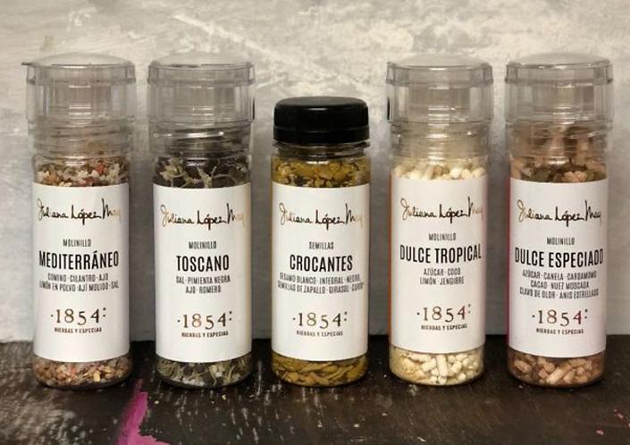 Molinillos: Toscano / Mediterraneo / Especiado / Tropiclál / Semillas Crocantes