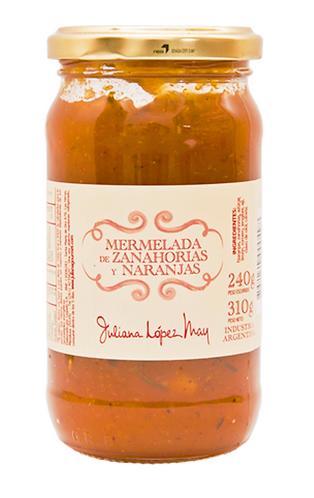 Mermelada Zanahoria y Naranjas - Juliana Lopez May -310gr