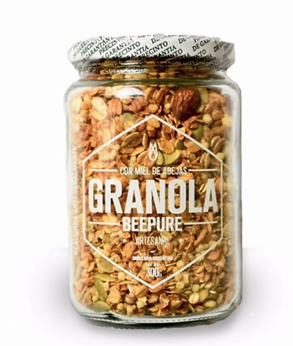 Granola Miel o Chocolate- 330gr - Frasco