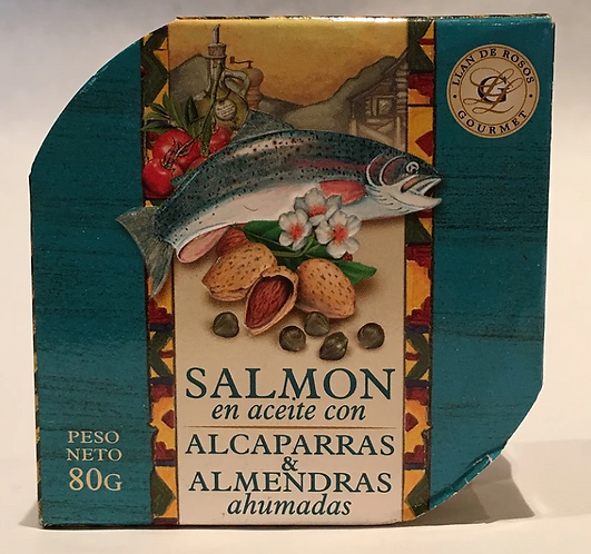 Salmon en Aceite con Alcaparras y Almendra x 80 Grs.
