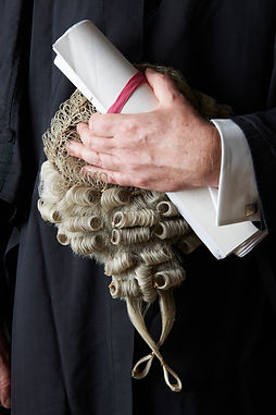 Close Up Of Barrister Holding Brief And