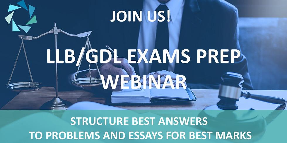 LLB/GDL EXAMS PREP WEBINAR