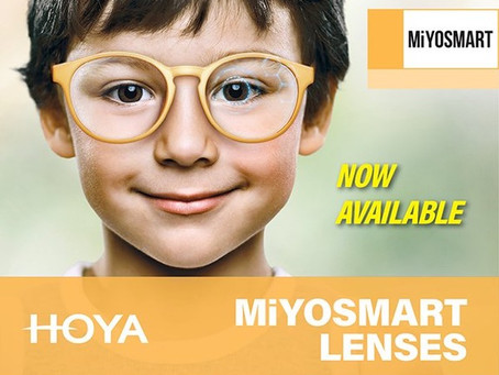 PROUD STOCKISTS OF THE MiYOSMART SPECTACLE LENS FOR CHILDREN