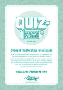 Logotyp & affisch – Quiz-SM