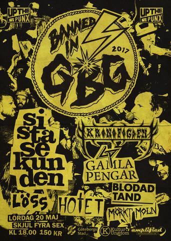 Affisch & logotyp – Banned in GBG 2017