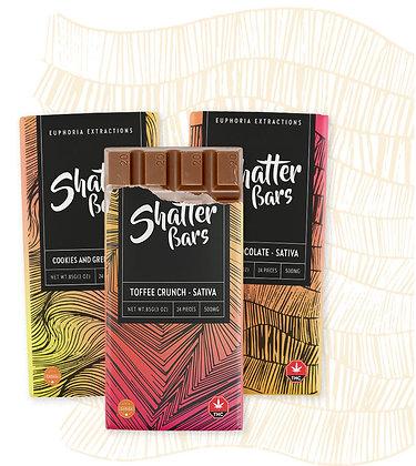 500mg Euphoria Sativa Shatter Bars