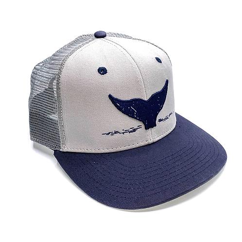 Grey and Navy Trucker Hat