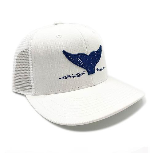White and Navy Trucker Hat