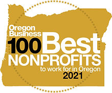 Oregon Business 100 Best Nonprofits to work for in Oregon 2021 logo