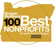 Oregon Business 100 Best Nonprofits to work for in Oregon 2020 logo