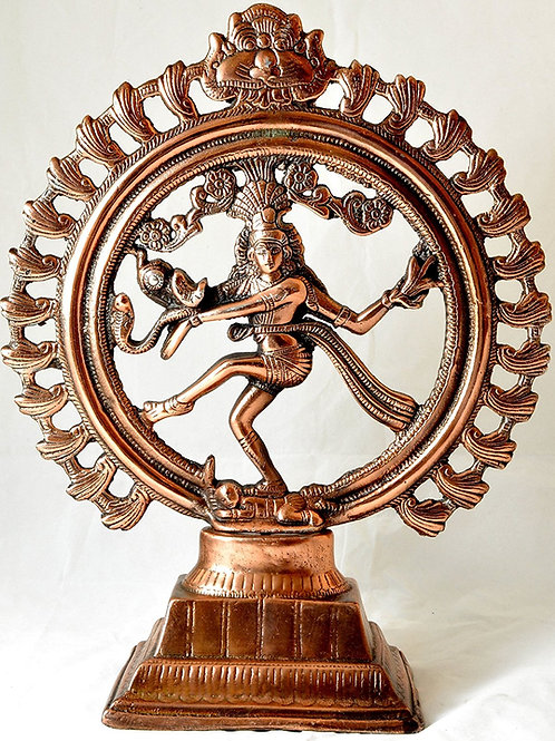 Nataraj 15 Inches Statue with Copper Finish for Prosperity and Good Luck