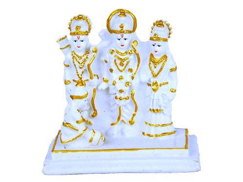 5 Inches Glow Stone Statue - Sita Rama Laxman and Hanuman Ram Darbar Statue