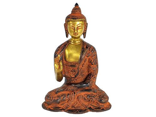 Unique Brass Meditating Buddha Statue Figurine