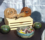 Mask Display with Gazing Spheres and Bowl