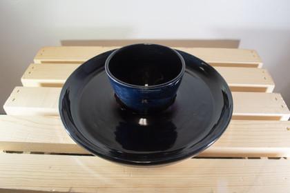 Black Chip and Dip Bowl