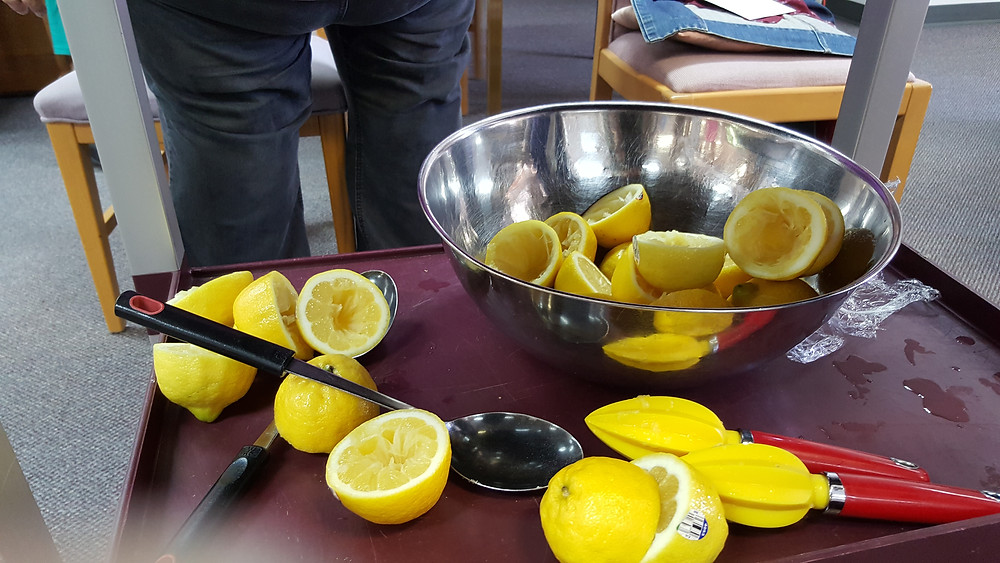 The makings of lemonade.