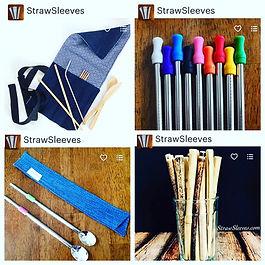 steel straw bamboo straw straw sleeve steel spoon