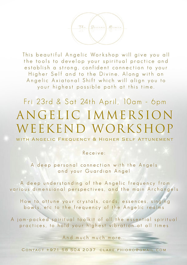 Angelic Immersion Weekend - APR 2021 - L
