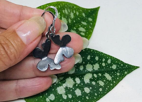 Antiqued Butterfly Earrings