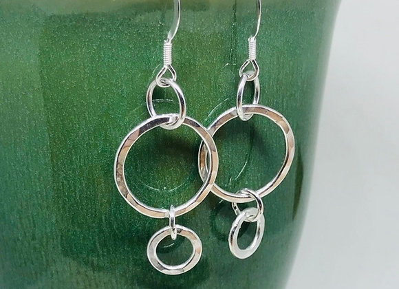 Mother and Baby Drop Earrings