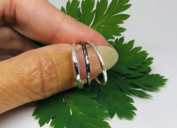 3 Hammered Stacking Rings