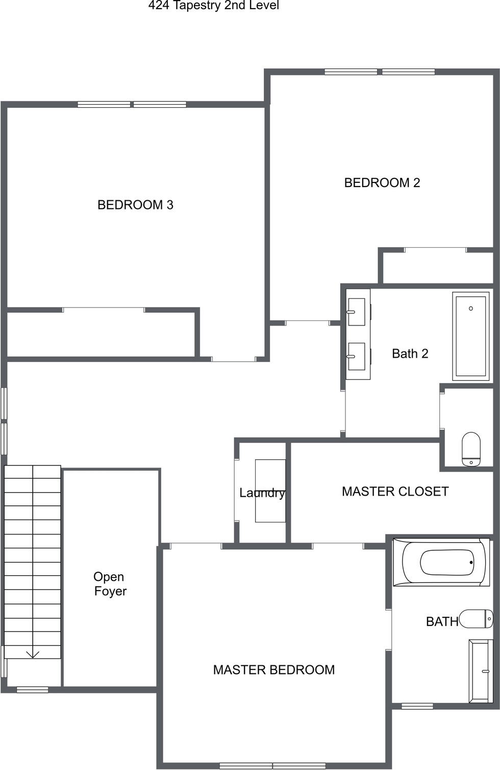 424 tapestry place - floor plan 2nd Floo