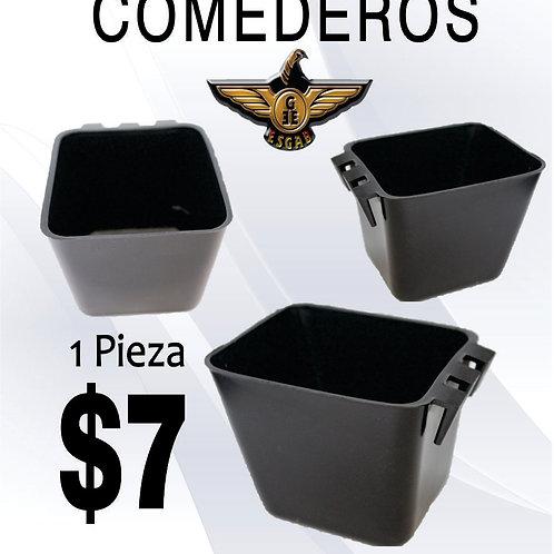COMEDERO CUADRADO NEGRO
